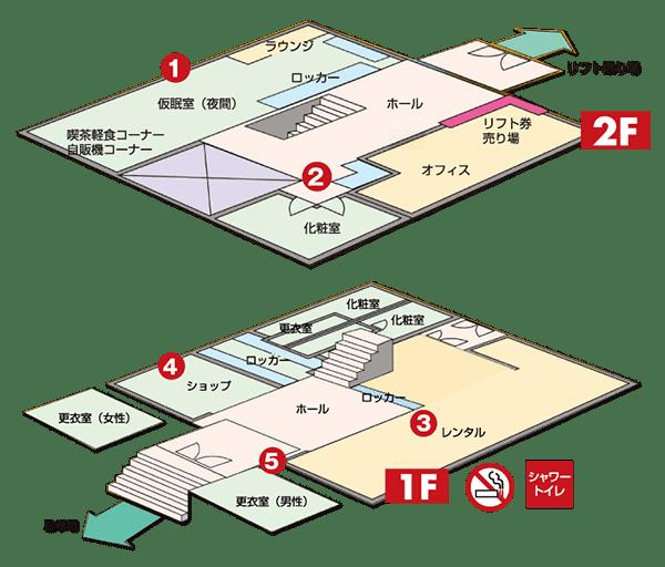 スキーセンター見取り図